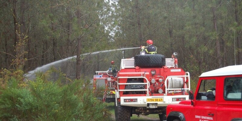 Les pompiers à pied d'oeuvre
