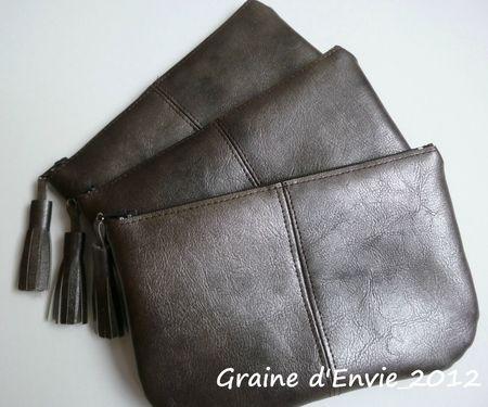 pochettes portefeuilles simili cuir