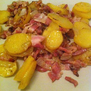 poelee_pommes de terre_oignons_lardons