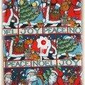 Pochette tissu de Noël
