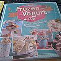 Frozen yogurt sur compote d'abricots au romarin