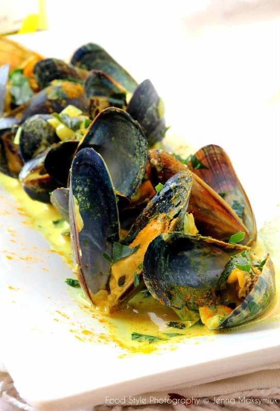 moules curry coriandre