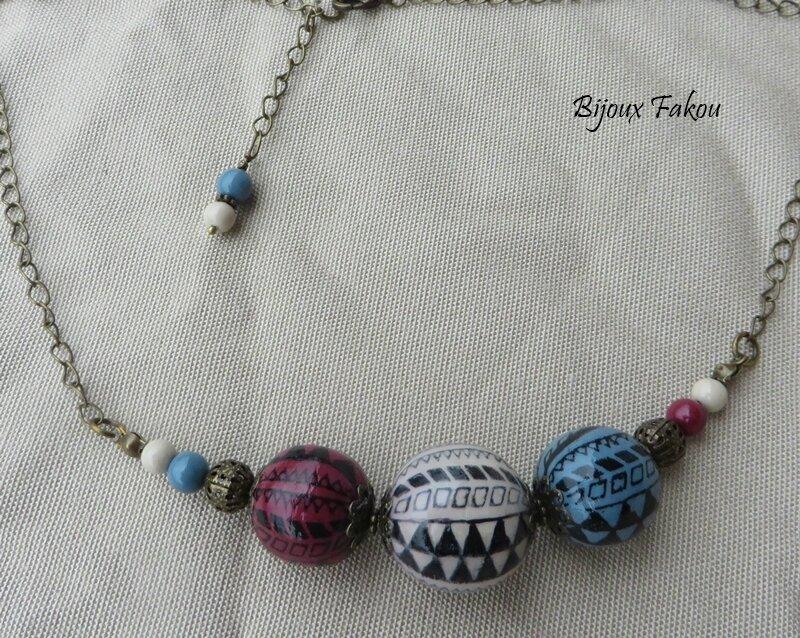 collier perles pour CTN