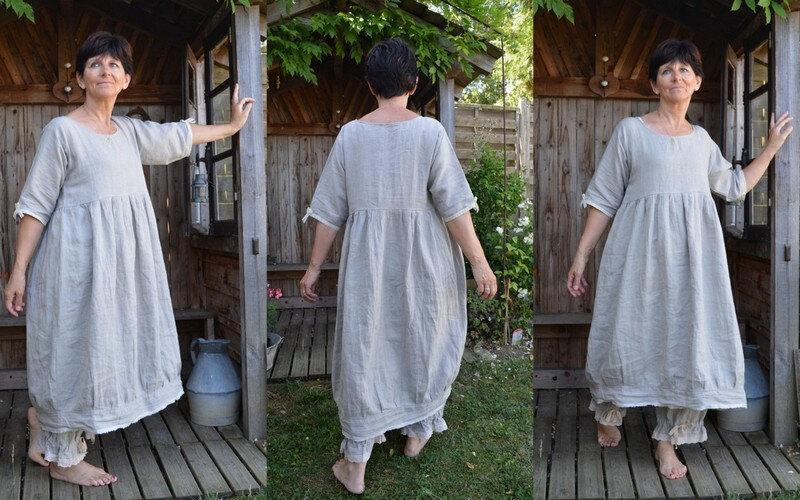 robe en lin naturel
