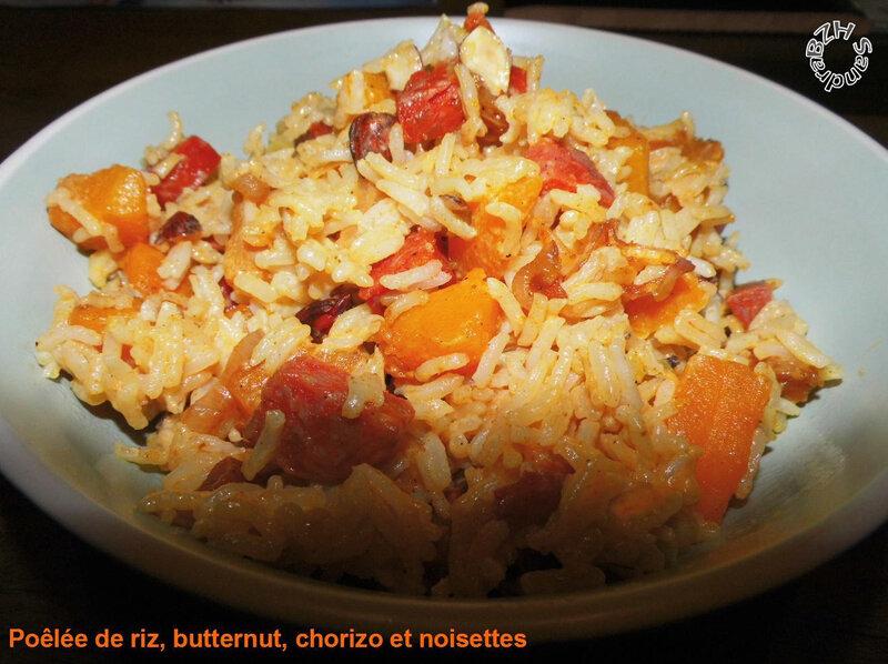 0919 Poelée de riz, butternut, chorizo et noisettes 1