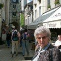 Rue piétonne pittoresque d'Amboise