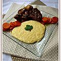 Boeuf bourguignon & polenta